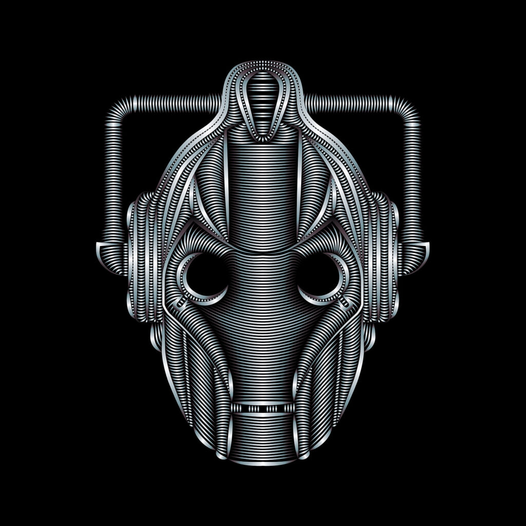 BBC Doctor Who Cyberman Illustration