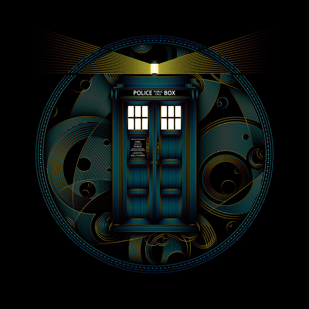 BBC Doctor Who TARDIS Illustration