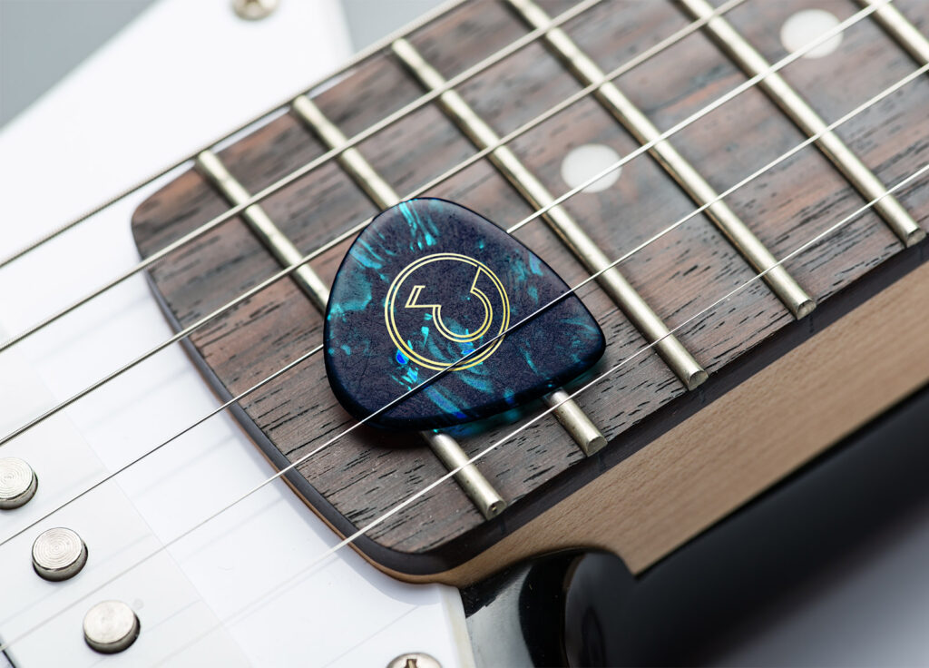 Eva Ocean Musician Branding Logo_Guitar Pick