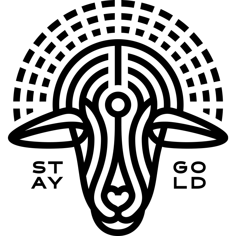 Gold Sheep Design Brand Submark - Black