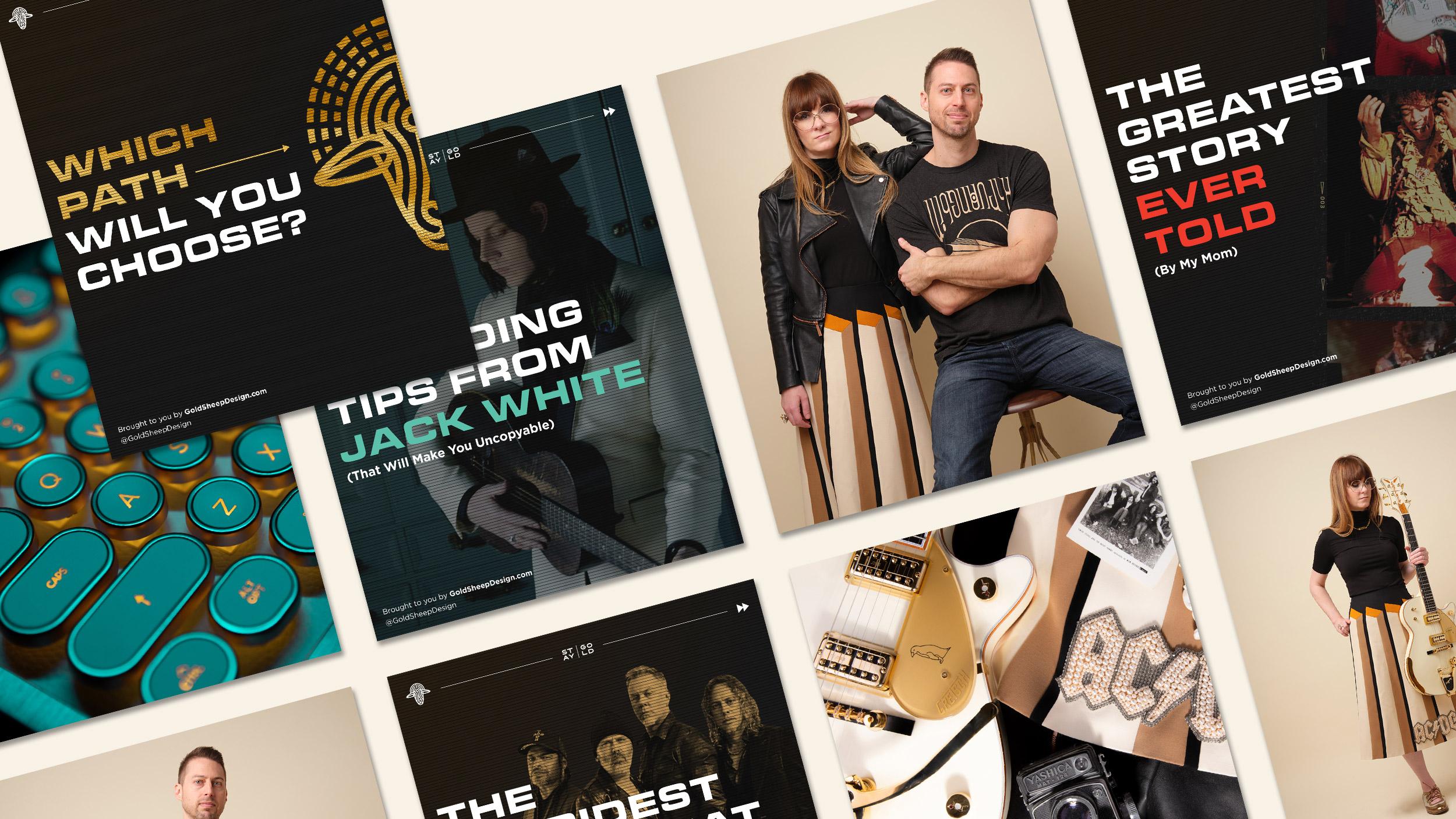 Gold Sheep Design Instagram Carousel Design