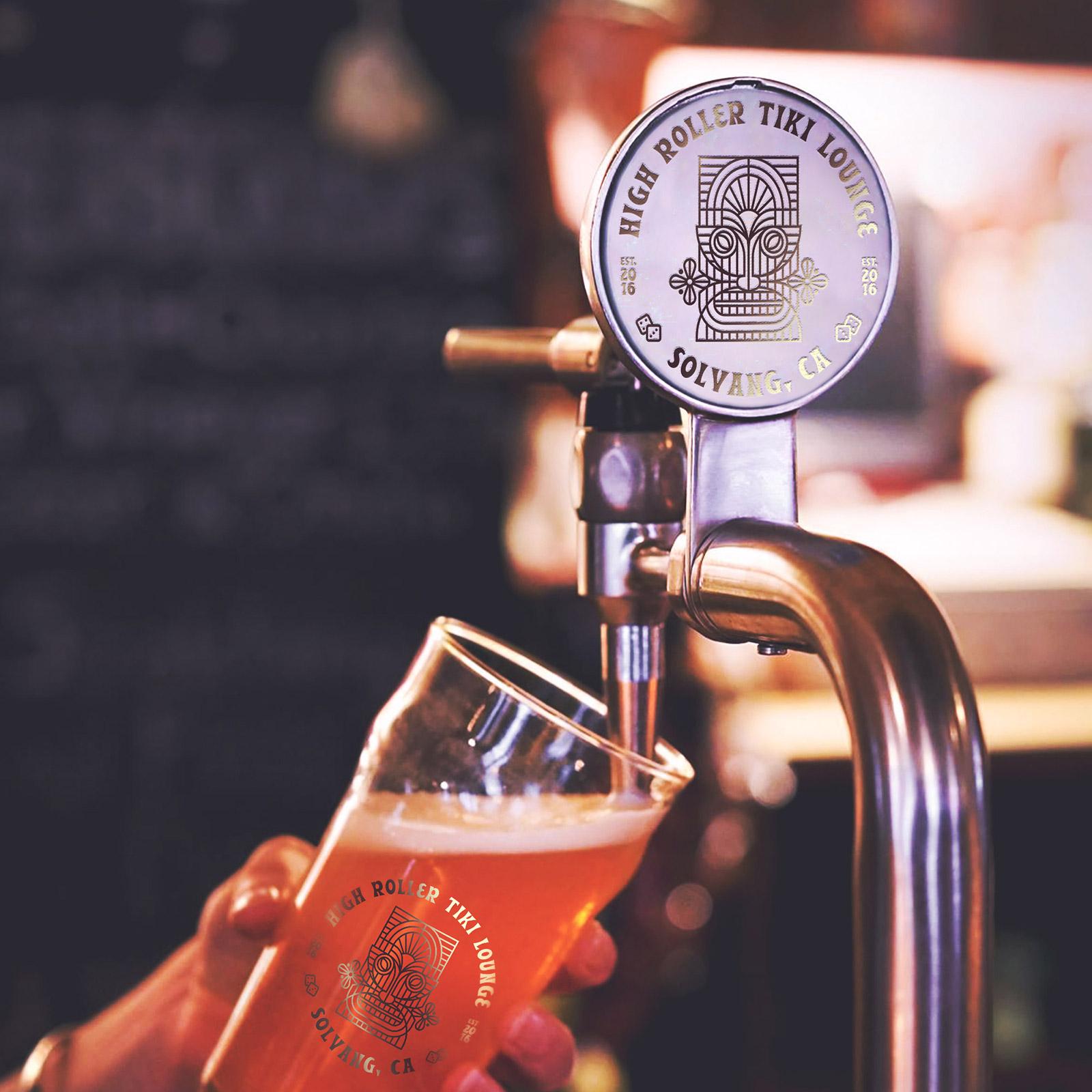 High Roller Tiki Lounge Beer Tap