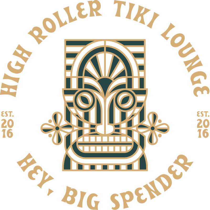 High Roller Tiki Lounge Hey Big Spender | Full Color