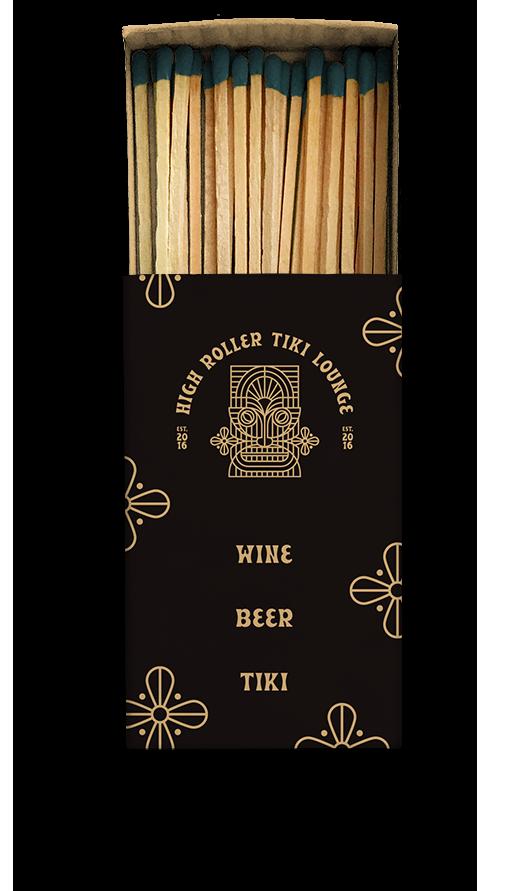 High Roller Tiki Lounge Matchbook