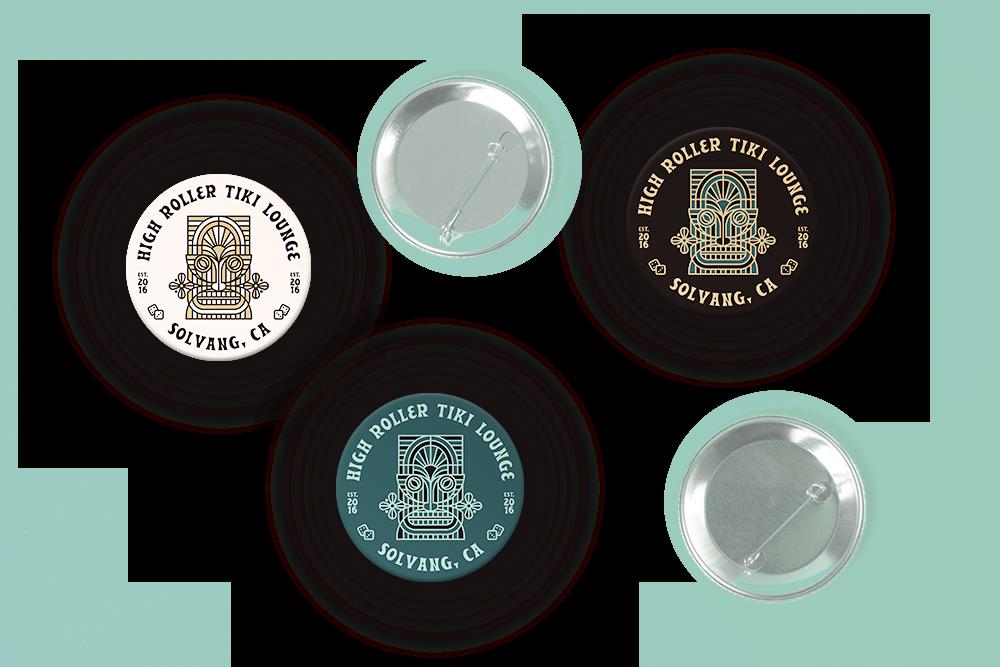 High Roller Tiki_Lounge Pins