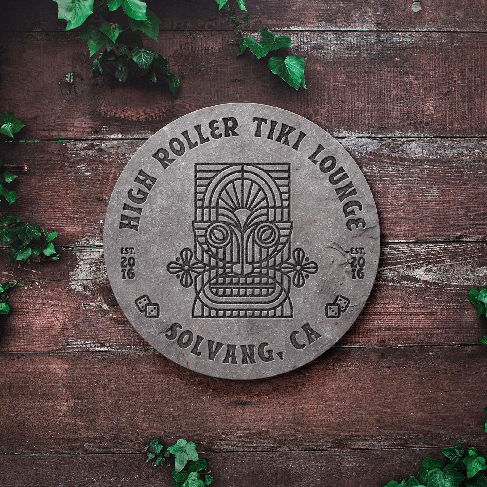 High Roller Tiki Lounge Signage