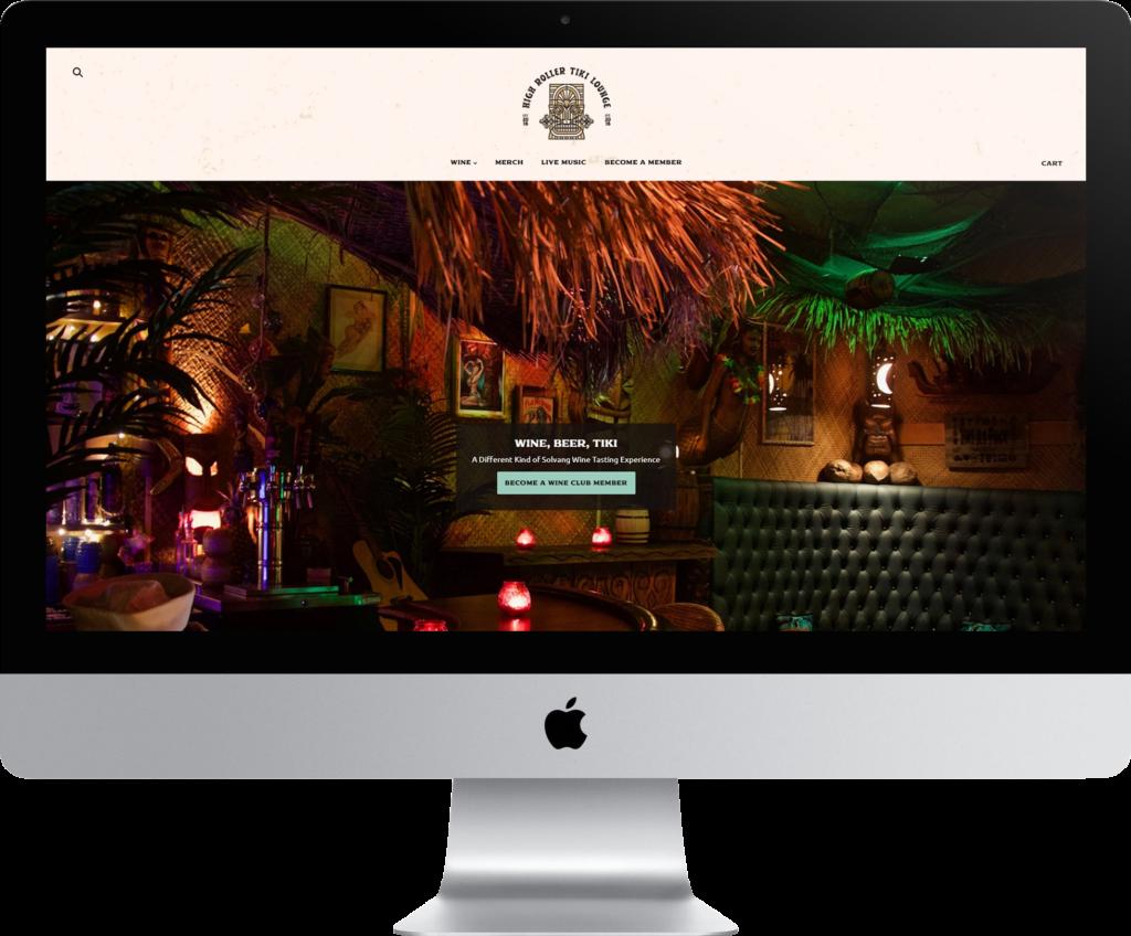 High Roller Tiki Lounge Website