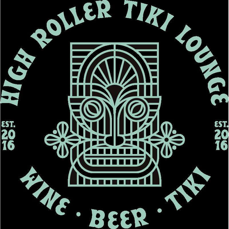 High Roller Tiki Lounge Wine Beer Tiki | Full Color