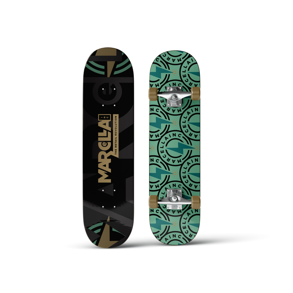 Marcella Inc Branding Design Skateboard