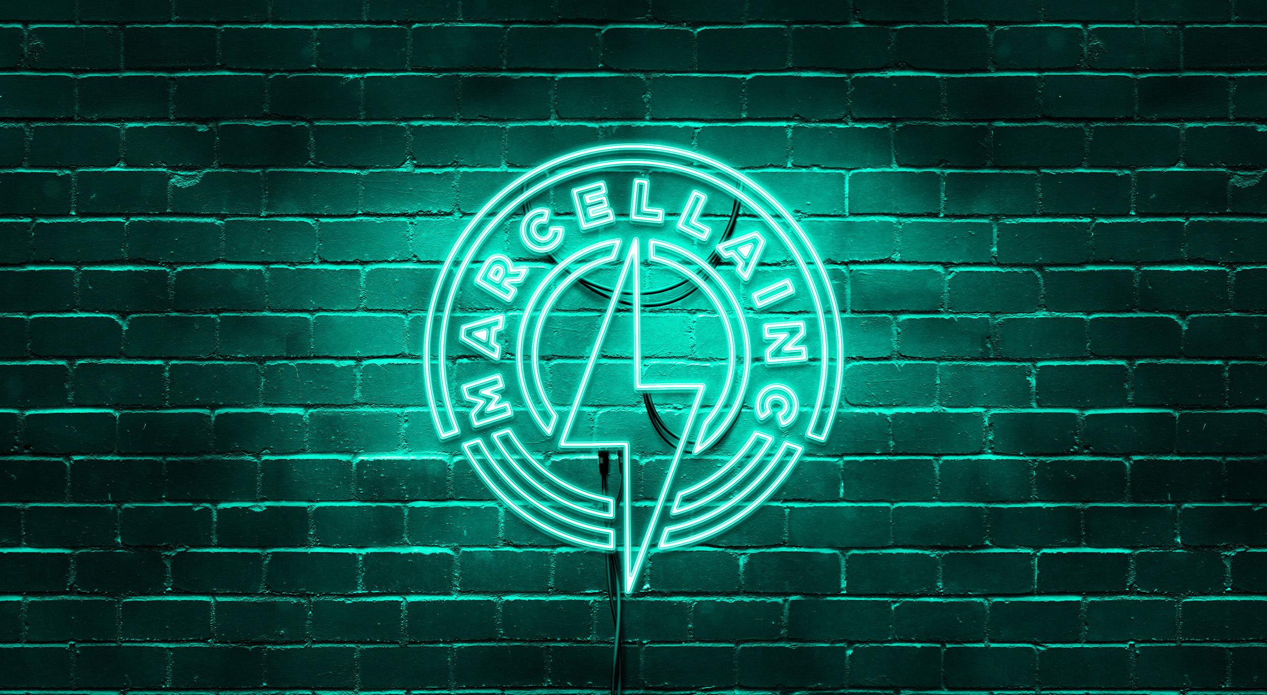 Marcella Inc Logo Design Neon Sign