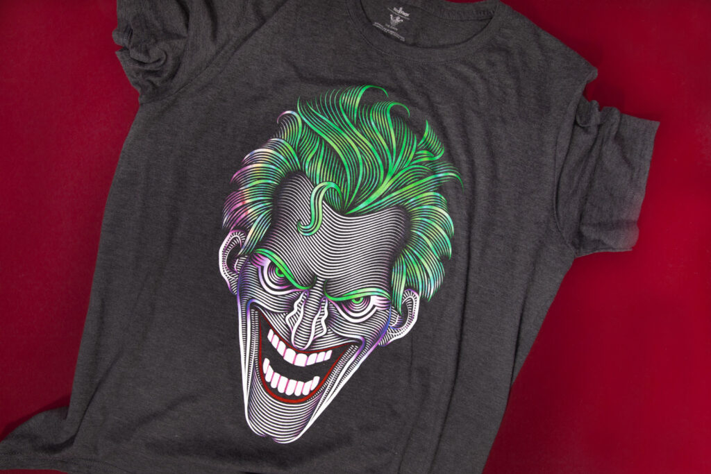 Six Flags DC Joker Illustration Tee Shirt Design