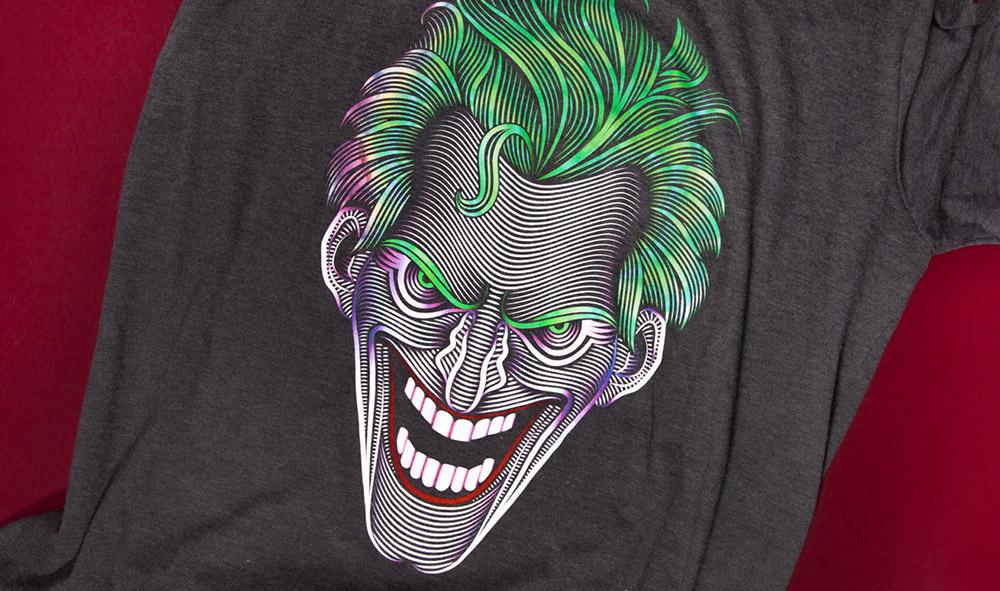 Six Flags DC Joker Illustration Tee Shirt Design - Featured