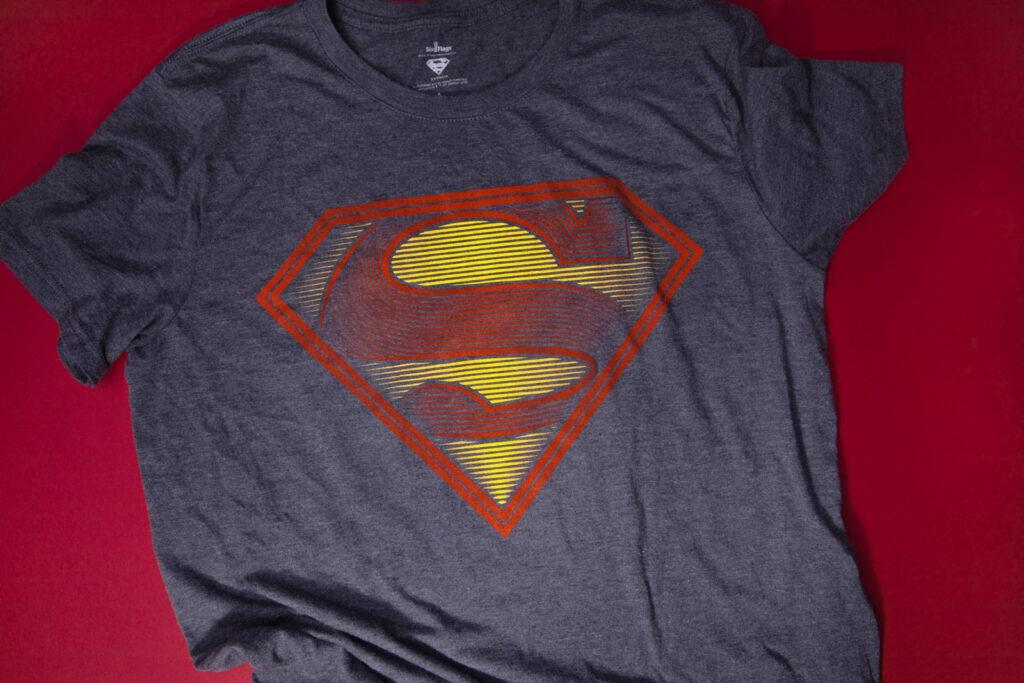 Six Flags DC Superman Illustration Tee Shirt Design