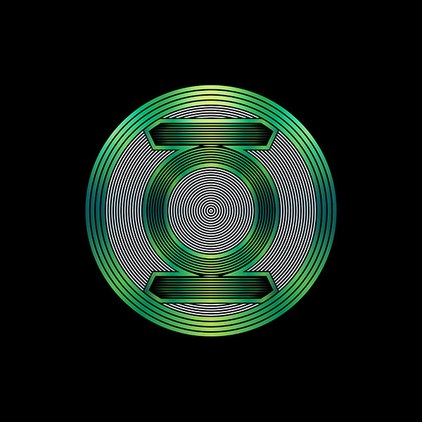 Six Flags Green Lantern Logo Illustration