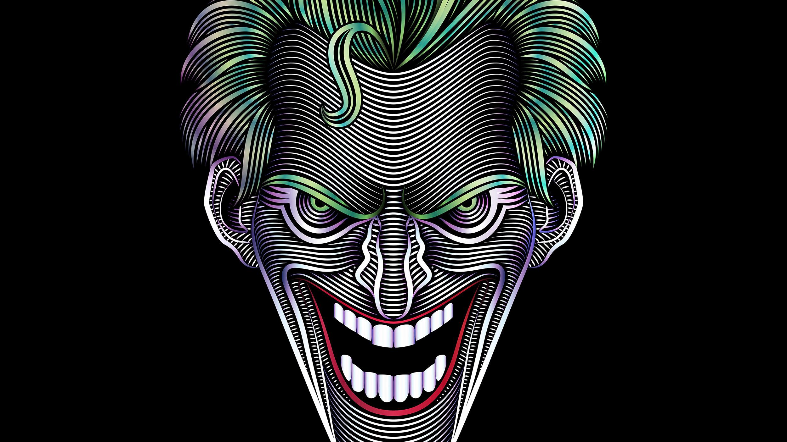 Six Flags Joker Illustration Gradients
