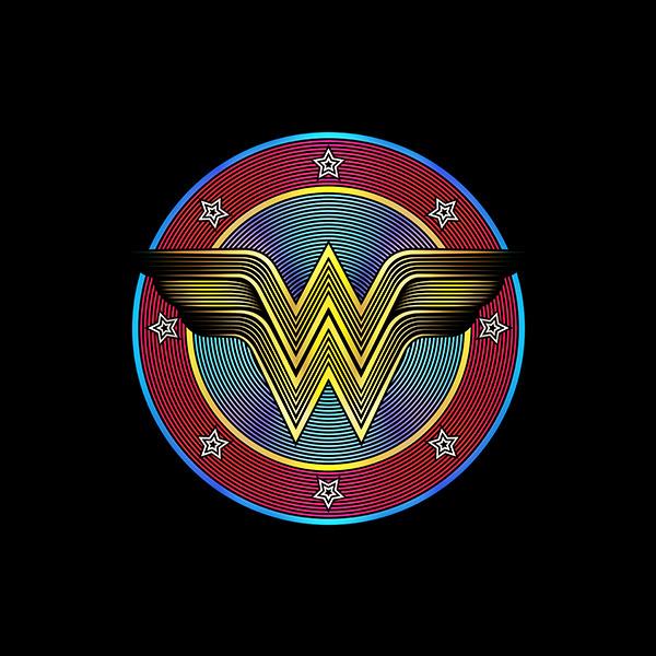 Six Flags Wonder Woman Classic Logo Illustration