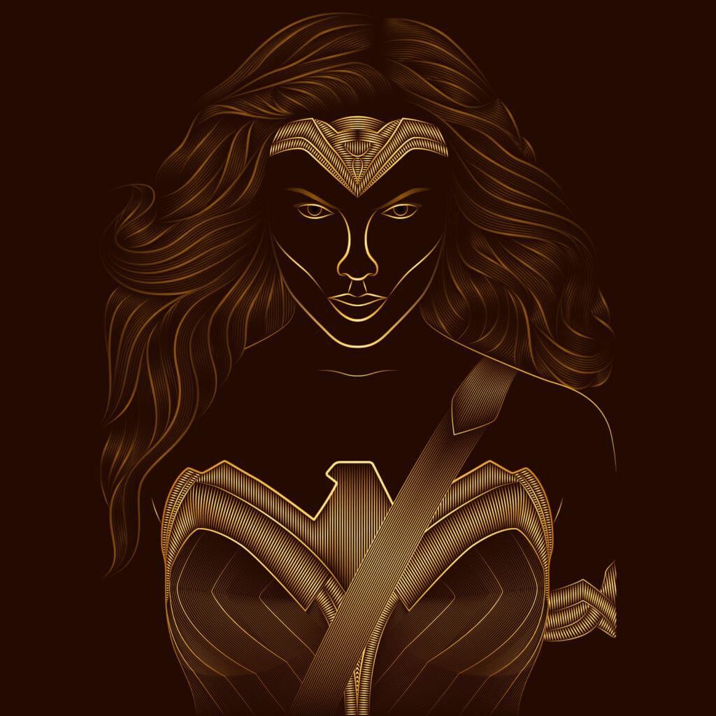 Six Flags Wonder Woman Illustration