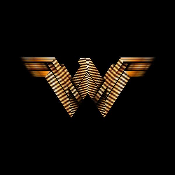 Six Flags Wonder Woman Logo Illustration