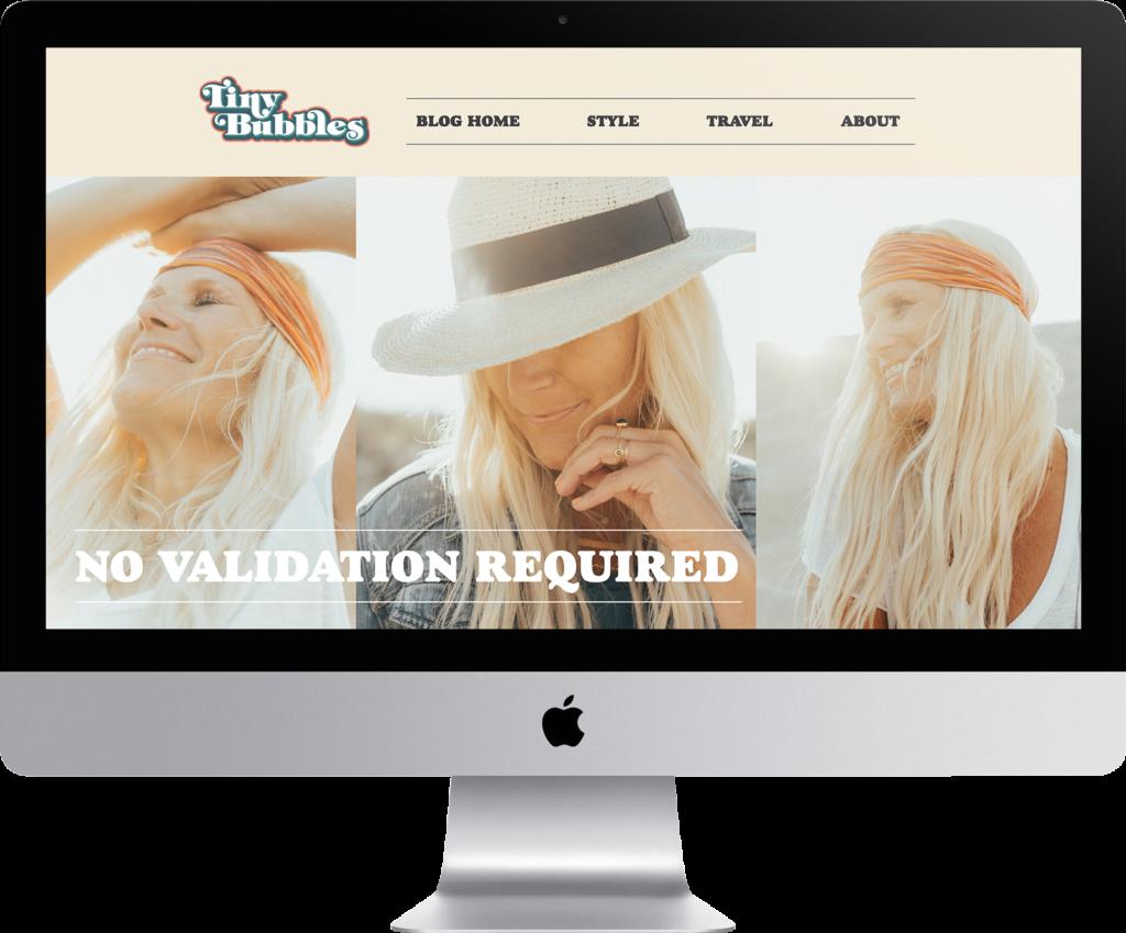 Tiny Bubbles Website Design
