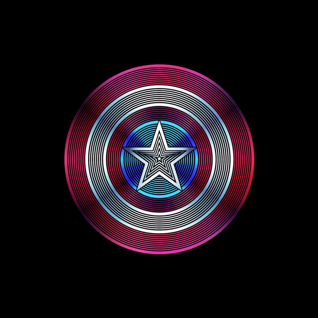 Universal Studios Captain America Shield Logo Illustration
