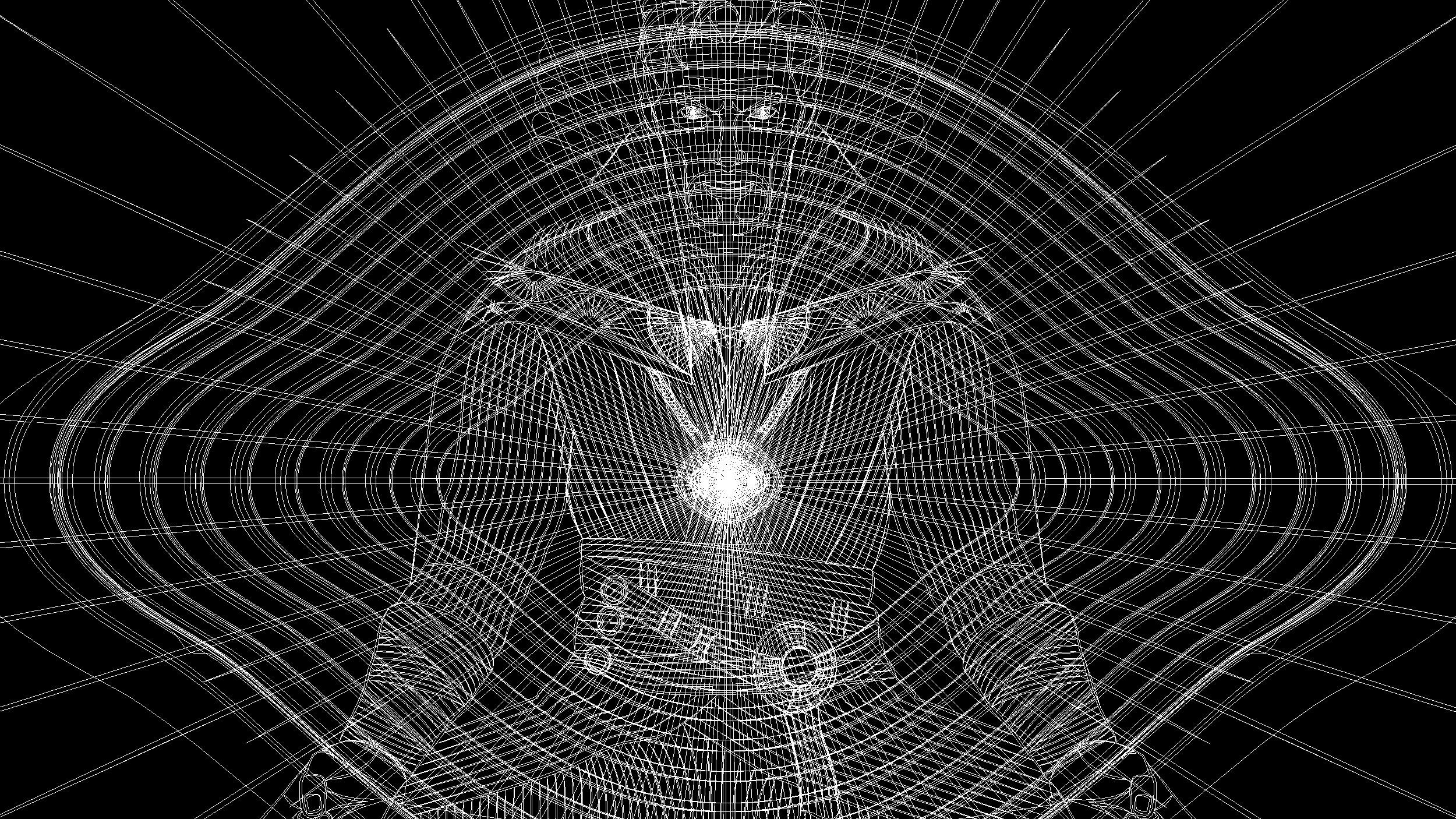 Universal Studios Doctor Strange Illustration Outline View