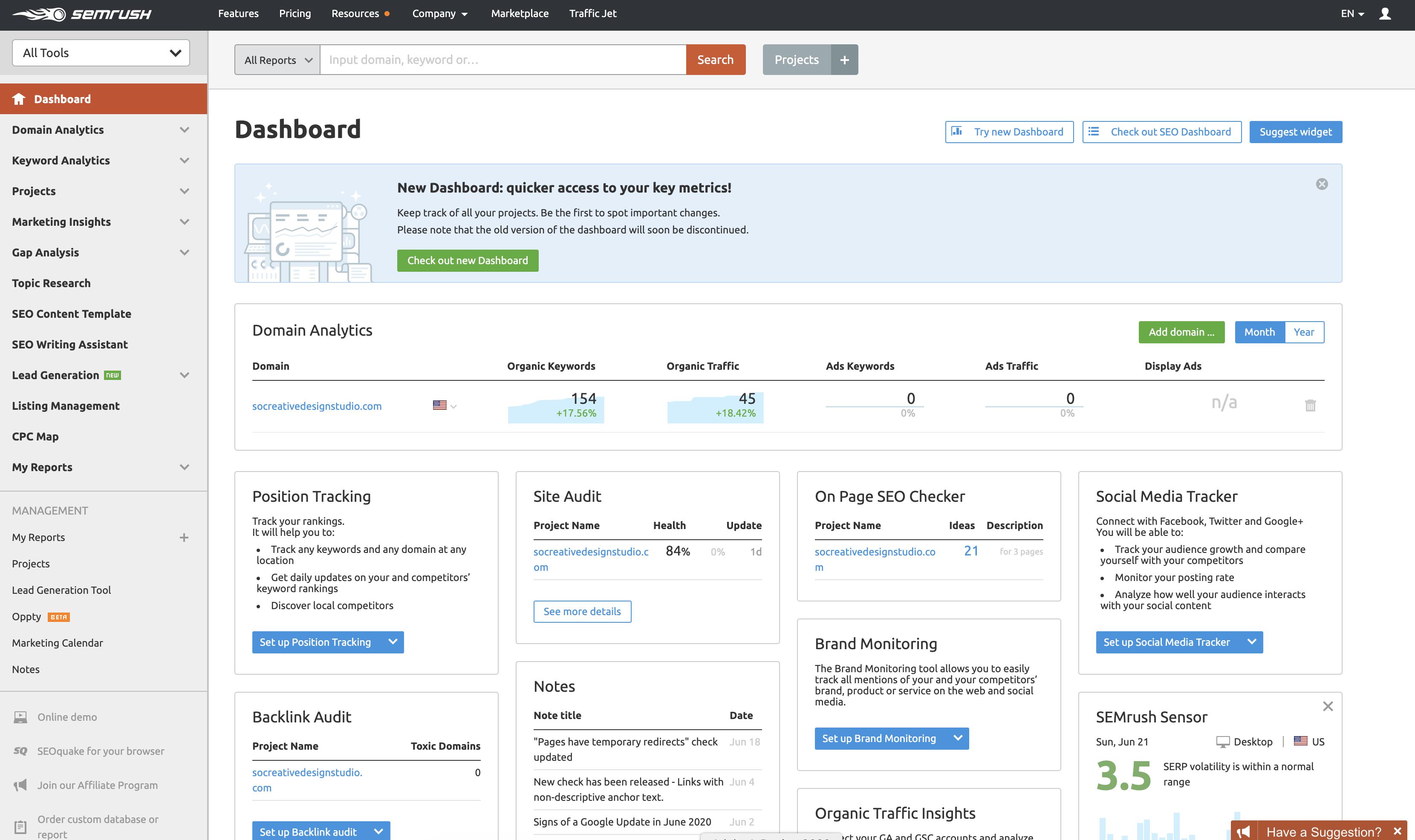 semrush content creation tools