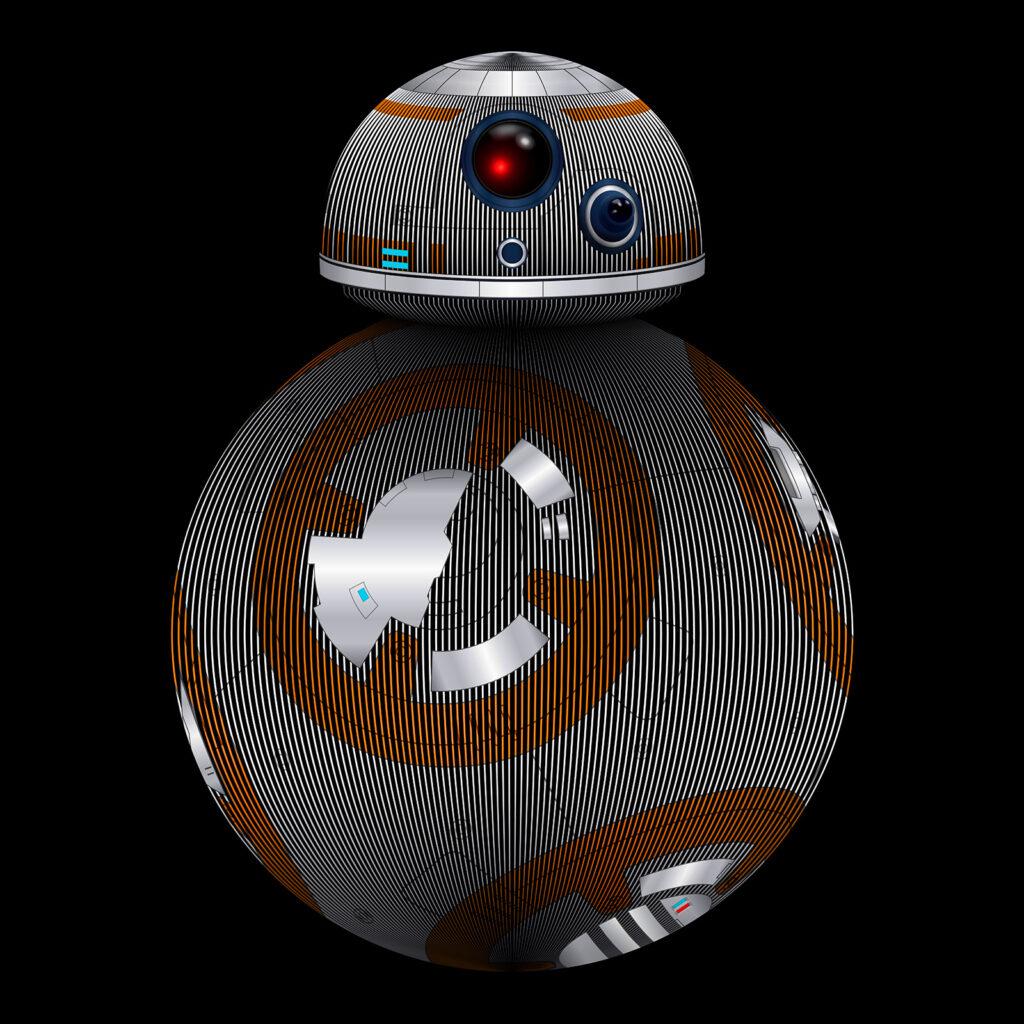 Star Wars Art Illustration BB-8 Droid