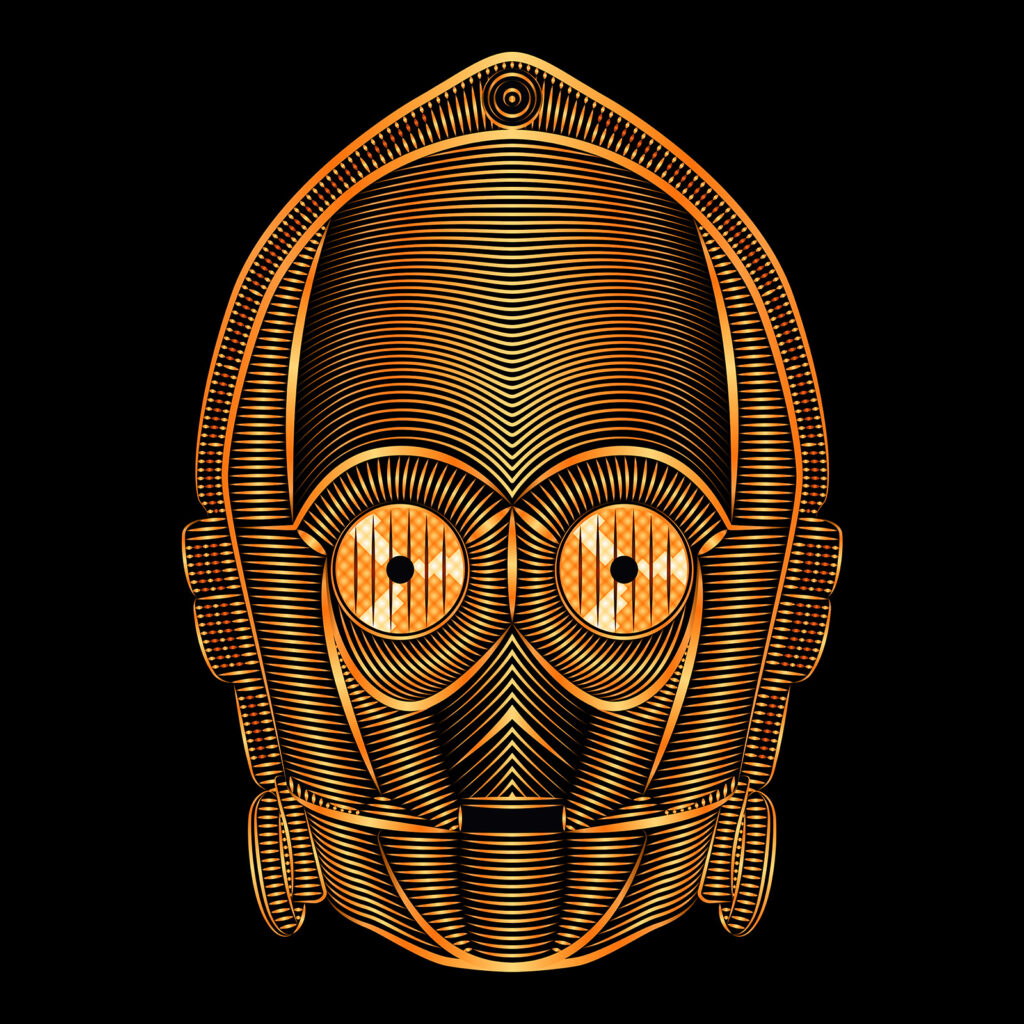Star Wars Art Illustration C-3PO Droid