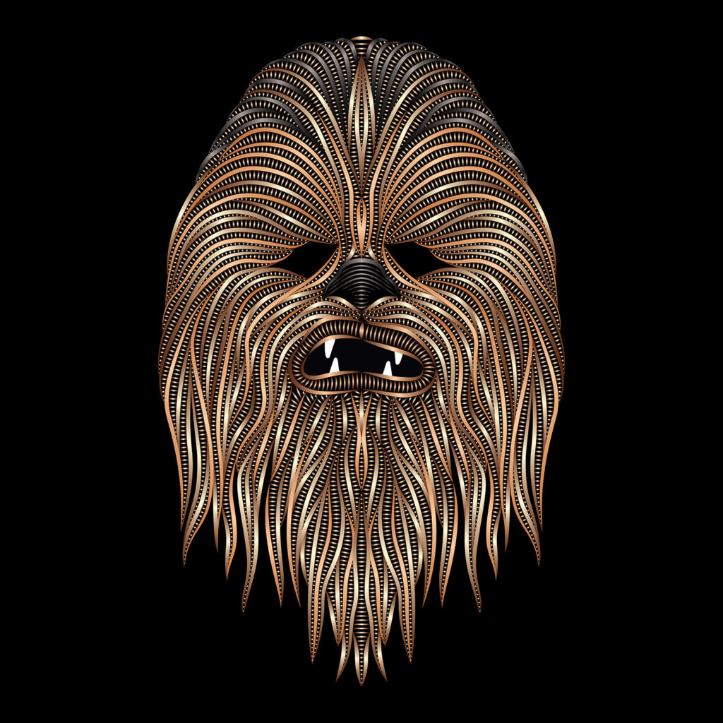 Star Wars Art Illustration Chewbacca