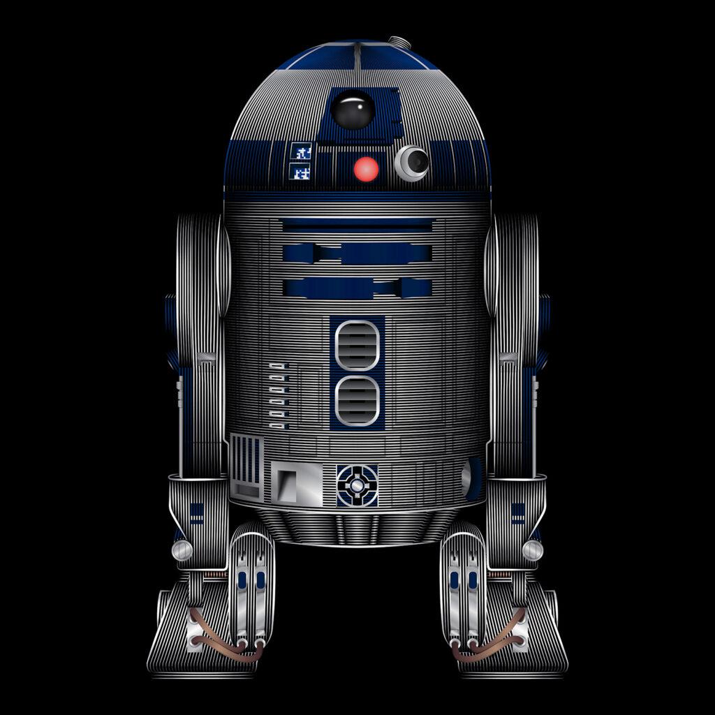 Star Wars Art Illustration R2-D2 Droid