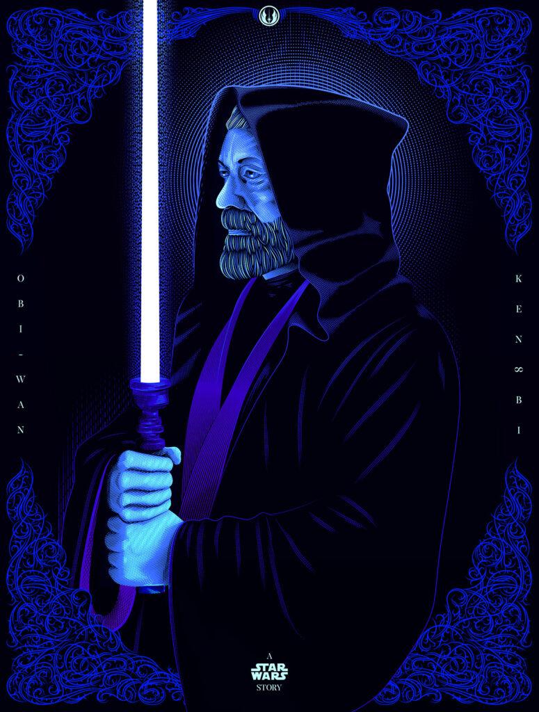 Star Wars Art Kenobi Illustration