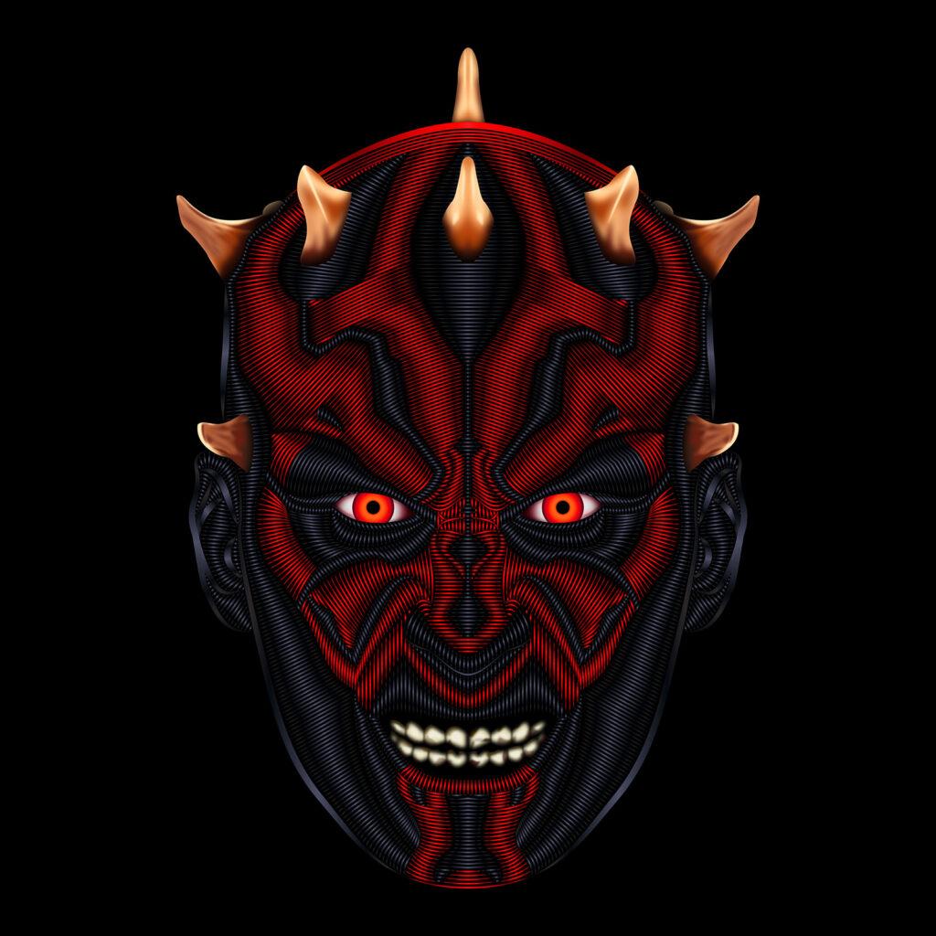 Star Wars Character Illustration Darth Maul