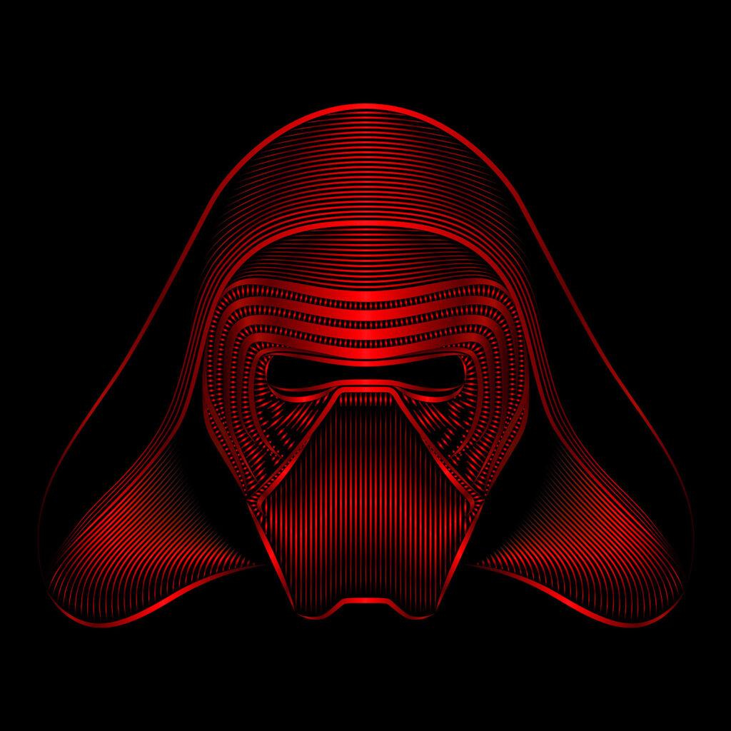 Star Wars Character Illustration Kylo Ren Masked
