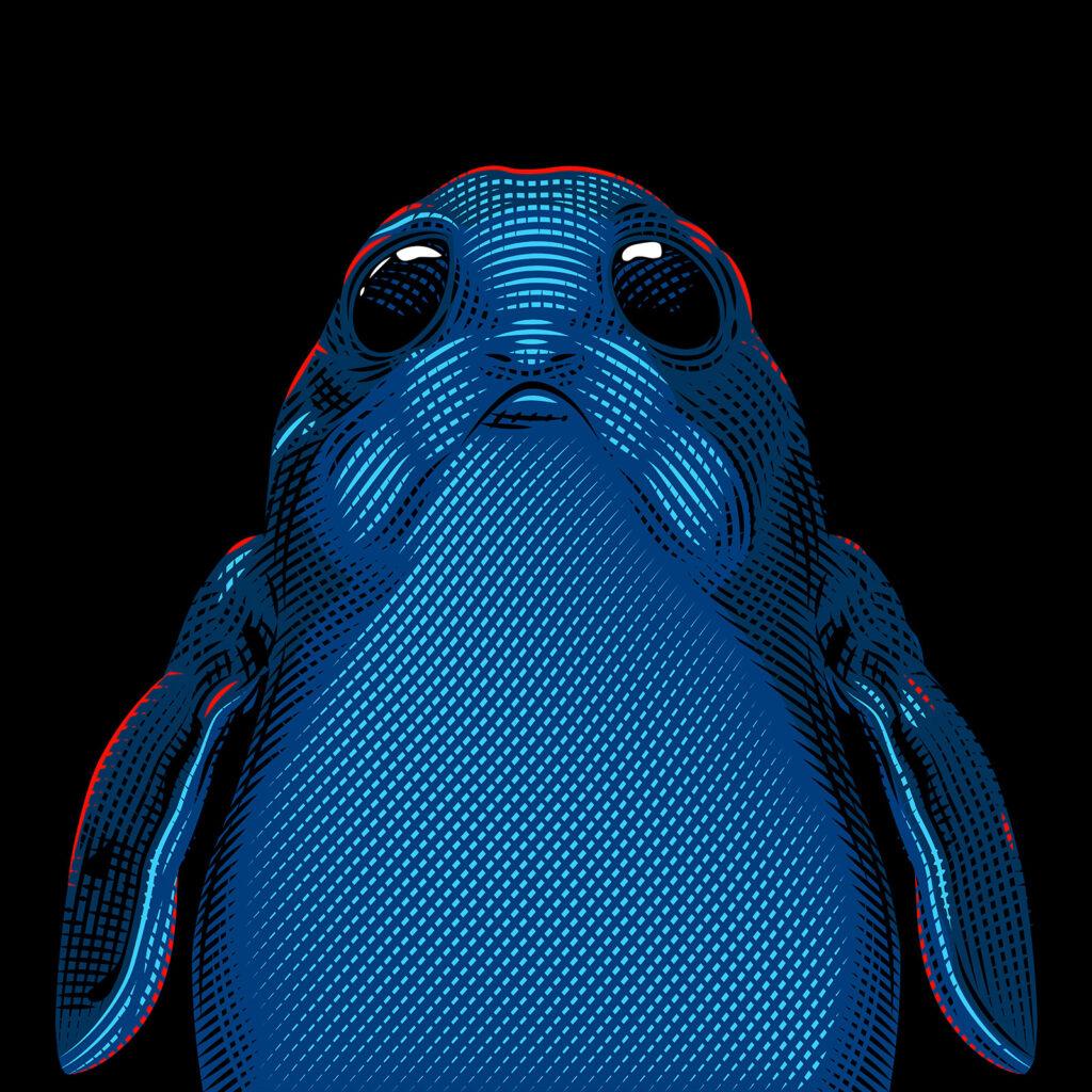 Star Wars Character Illustration Porg