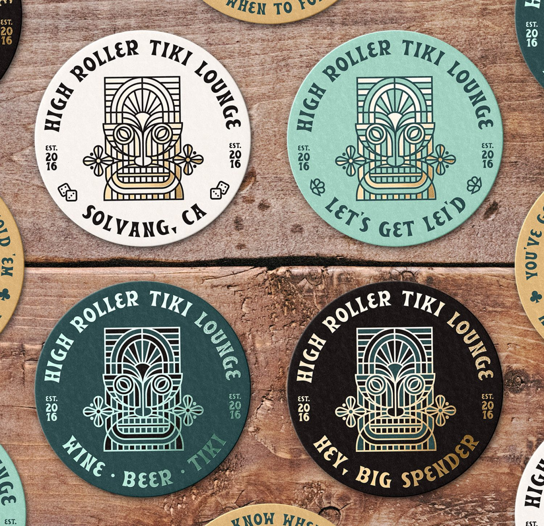 High Roller Tiki Lounge Coasters