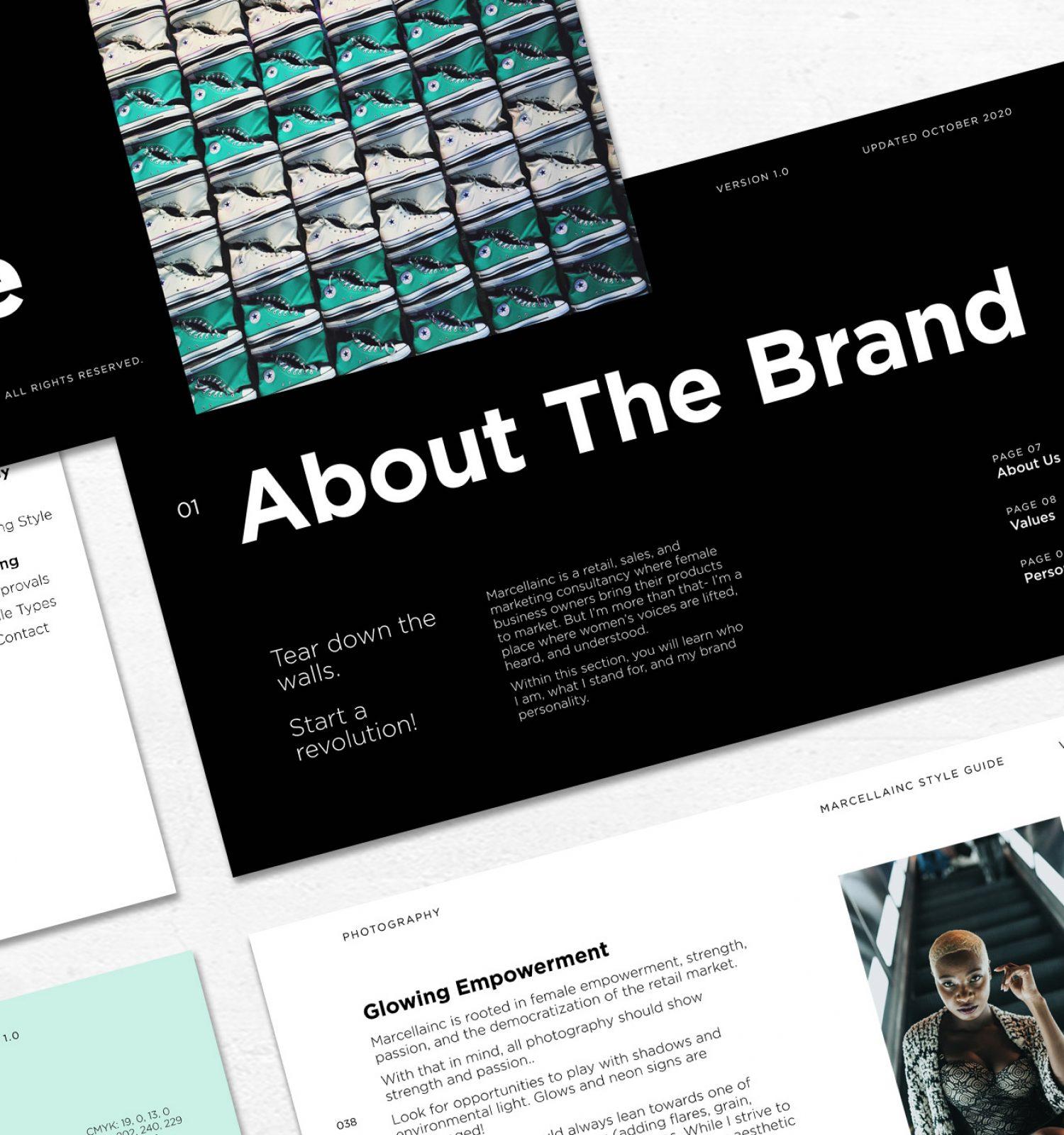 Marcella Inc Branding Style Guide