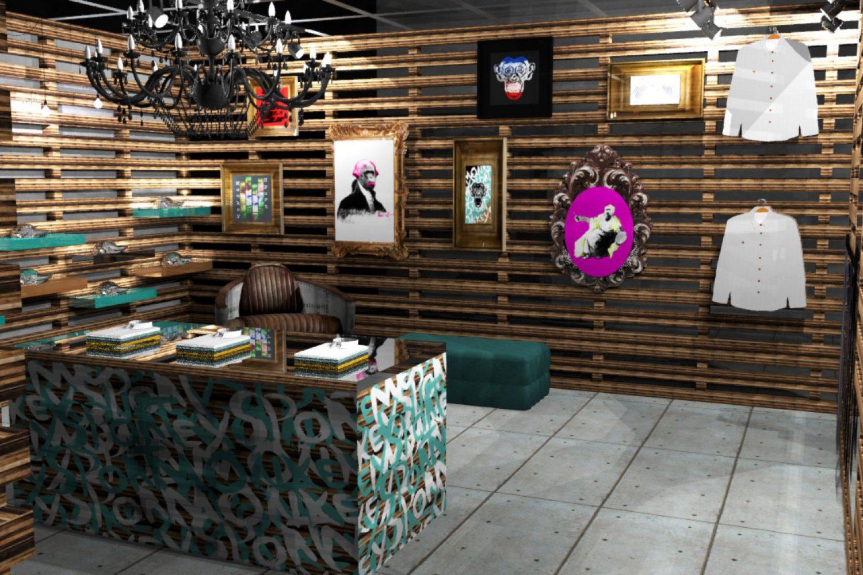 Streetwear Hip Hop Lifestyle Brand Store Installation - Entering
